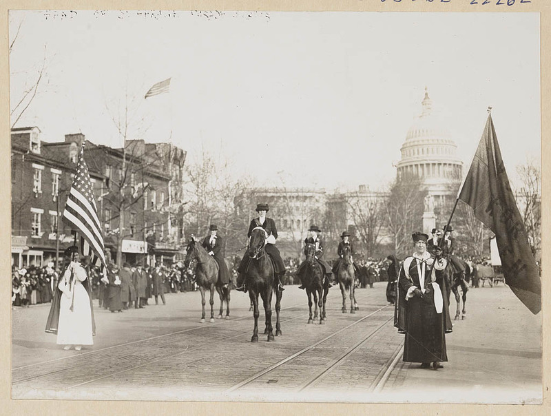 Head of suffrage parade in Washington, D.C., Mar. 3, 1913