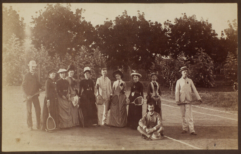 Tennis court on Channing place, 170 Orange Grove -- Pasadena (corner of Walnut).