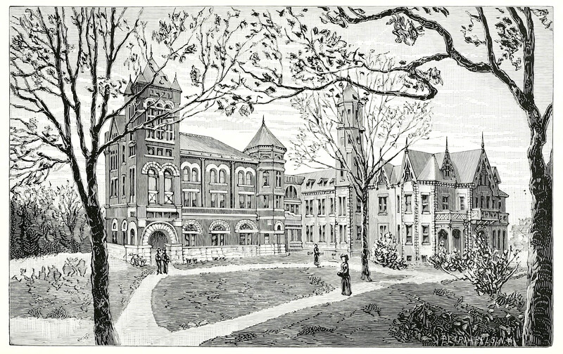 Illustration of Pennsylvania College for Women Campus
